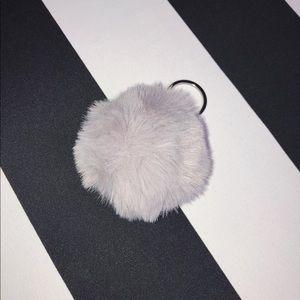 🐘 Pom Pom Keychain in Gray